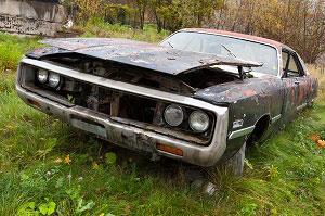Old Car in Salvage Yard in Florida