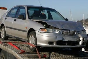 accident damaged car